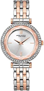 New Anne Klein New York 12/2303SVRT Two-Tone Brass Swarovski Crystal Watch