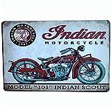 Fablcrew - 1 póster metálico de Pintura artística Decorativa Vintage para Bares, cafeterías, Pub, Vintage, póster de Pared Retro, Placa de Metal, Bares, Pub, 20 x 30 cm, Moto India