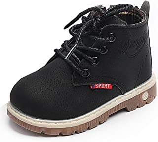 IMJONO B/éb/é Enfants Chaud Gar/çons Filles Lacets Martin Sneaker Bottes Chaussures de b/éb/é