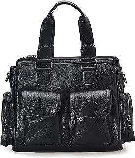 (ホクシス)Hoxis  2WAYバッグ ハンドバッグ ショルダーバッグ トートバッグ たくさんポケットが付き 仕切りある 機能的 無地 通勤用 A4 PC収納