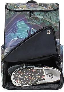 DEZIRO - Mochila para portátil con delfines subacuáticos para mujer y hombre, mochila de negocios.