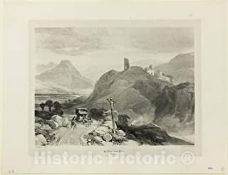 Historic Pictoric Print : The Tour-sans-Venin, Dauphine Region, James Duffield Harding, c.1841, Vintage Wall Decor : 48in x 36in