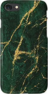 uCOLOR Gold Green Natural Marble Black Case Compatible with iPhone 6S 6 iPhone 8/7 Cute Protective Case Slim Soft TPU Silicon Shockproof Cover Compatible iPhone 6s/6/7/8(4.7