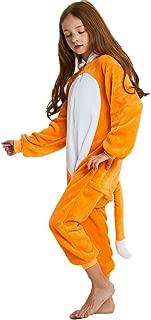 Kids Fleece Onesie Pajamas Christmas Halloween Animal Cosplay Sleepwear Costume