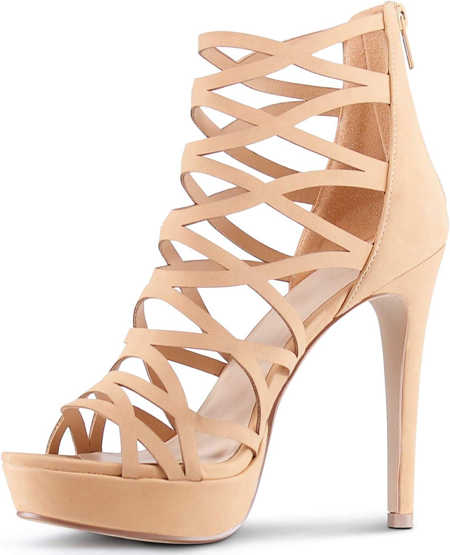 MARCOREPUBLIC MARCOREPUBLIC MARCOREPUBLIC Alexandra kvinnor Open Toe High klackar Platform skor Stiletto Dress Sandals  snabb frakt över hela världen