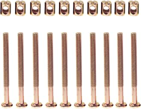 Crib Bolts and Screws Hardware Kit Barrel Nut for Furniture Baby Toddler Bed Crib Screws Replacement Parts M6 x 70mm / Set of 10