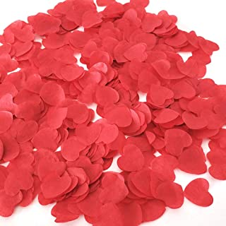 1 inch Red Tissue Paaper Heart Confetti 4000 Pieces Biodegradable Confetti Paper for Wedding Party Balloon or Table Decor