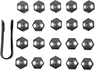 20Pcs Gray Wheel Lug Nut Center Covers Bolt Caps With Removal Tool 8D0012244A for VW Passat Audi A4 321601173A