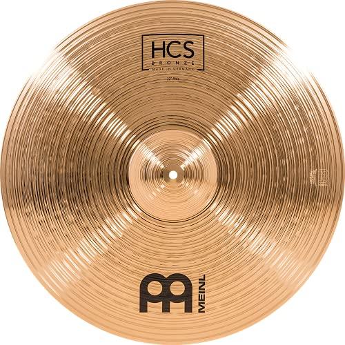 Meinl Cymbals HCS Bronze 22 Zoll (55,88cm) Ride Becken für Schlagzeug – B8 Bronze, traditionelles Finish (HCSB22R)