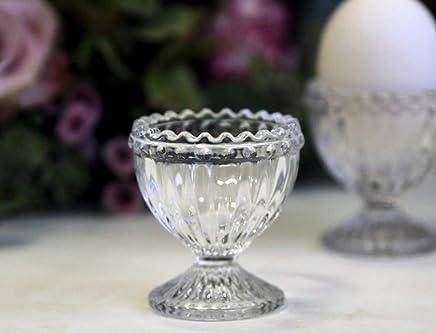 Preisvergleich für Eierbecher Eier Glas Deko Landhaus Nostalgie Antik Shabby Vintage Chic Antique