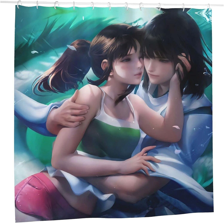 Spirited Away Anime Cheap SALE Start Bathroom Shower Curtain X Liner 72