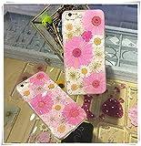 One Life ,one jewerly LG G6 genuino presionado flor seca iphone caso, cristal transparente, rosa girasol cáscara del teléfono celular, (qué tipo de cáscara del teléfono móvil se necesita?