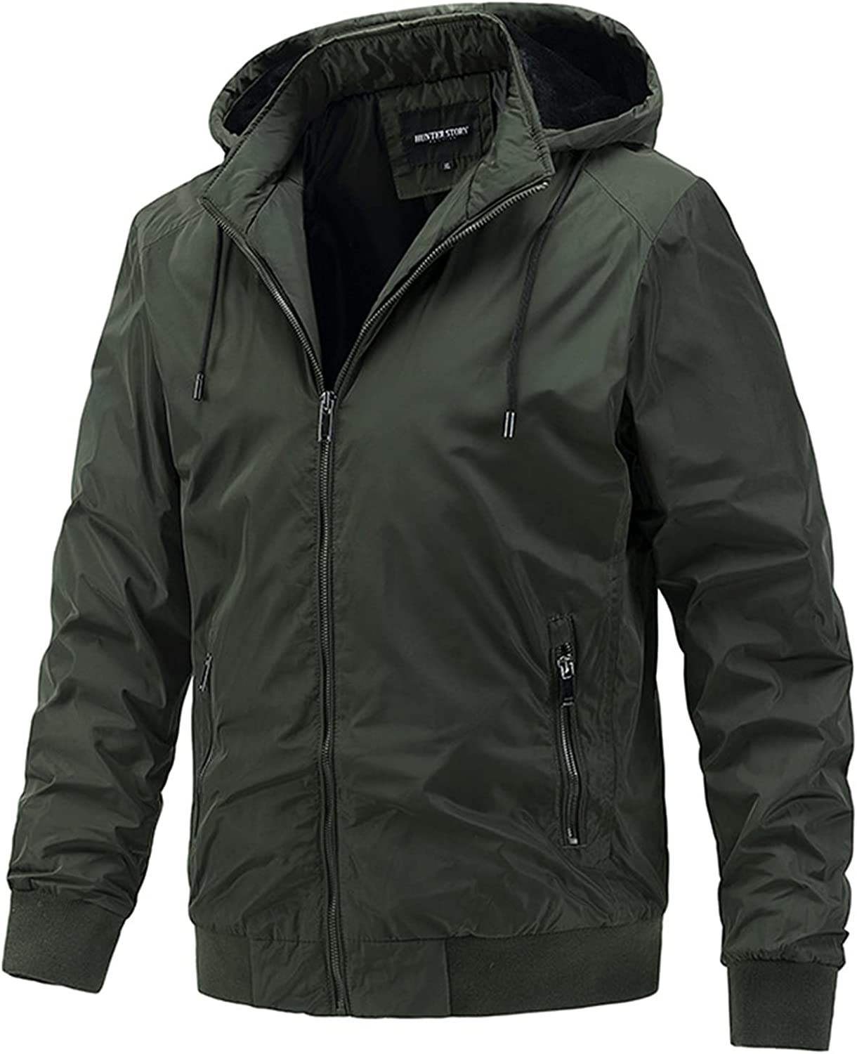 Men's Detachable Hooded Jacket,Casual Sports Thin Cotton Outerwear,Windproof and Warm Coat