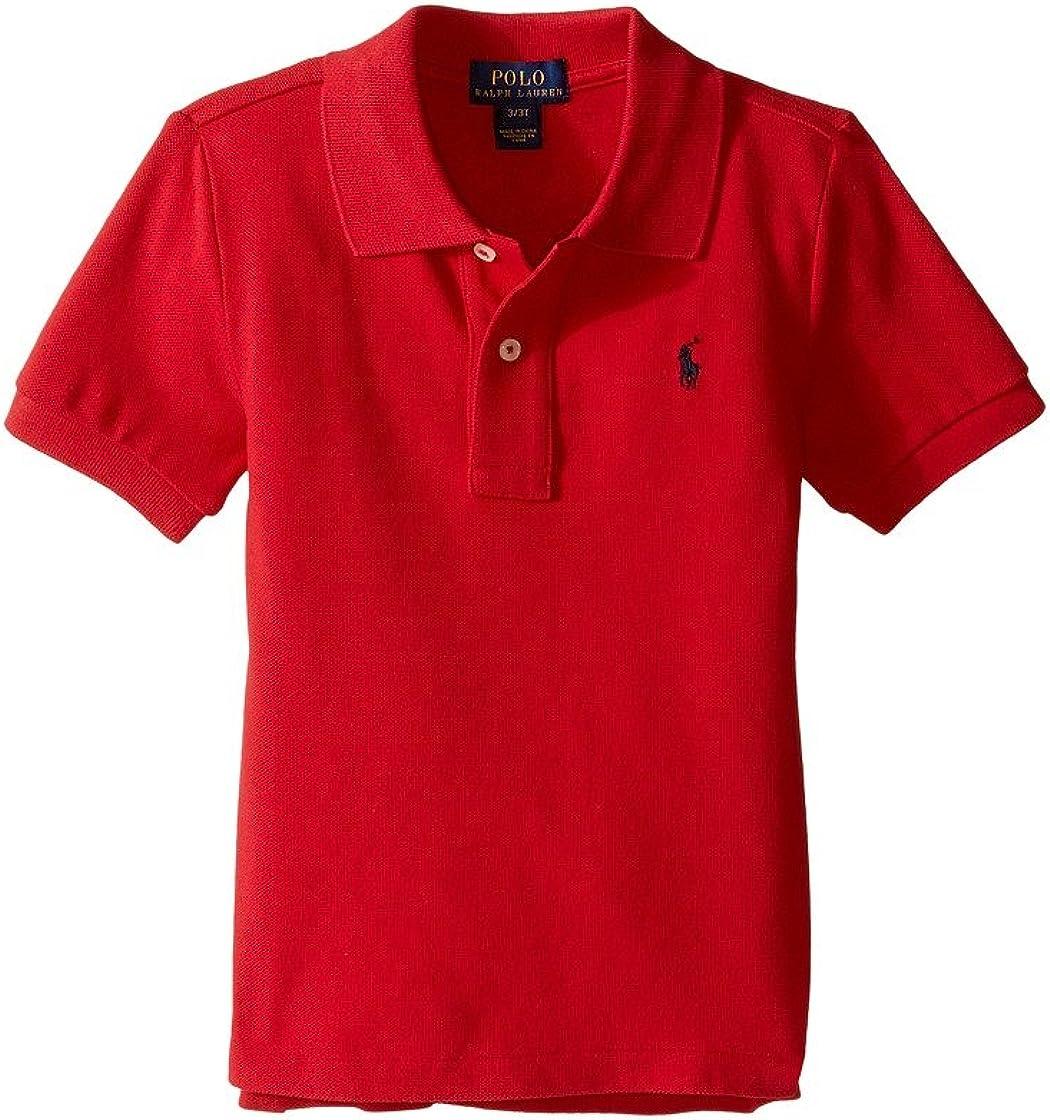 Polo Ralph Lauren Boys Toddler Short Sleeve Mesh Polo 2/2T Red