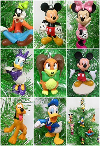 Ornaments Mickey Mouse Clubhouse 8 Piece Random Christmas Set Featuring Random Mickey and Friends Characters - Around 3' Tall