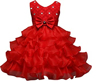 Robe rouge bebe fille ceremonie