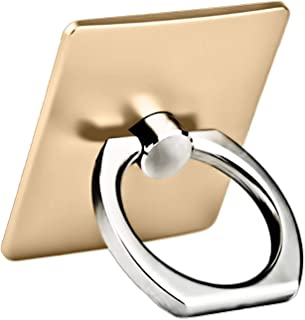 Finger Ring Stand 360 Degree Rotation Thin Universal Phone Ring Holder Kickstand Compatible with iPhone Xs,XS MAX, X, 8/8 Plus, 7/7 Plus£¬6/6S,5 SE, iPad, Samsung HTC Nokia and Other Smartphones-Gold