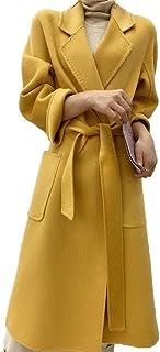 Grneric Autunno e Acqua d'inverno ondulati Doppio Cashmere Cappotto Donne Lungo sopra Il Mantello di Lana di Ginocchio