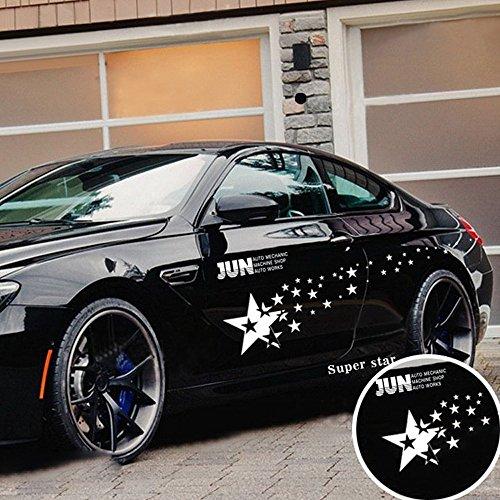 Erthome – Autocollants en vinyle pour voiture motif ciel étoilé, blanc