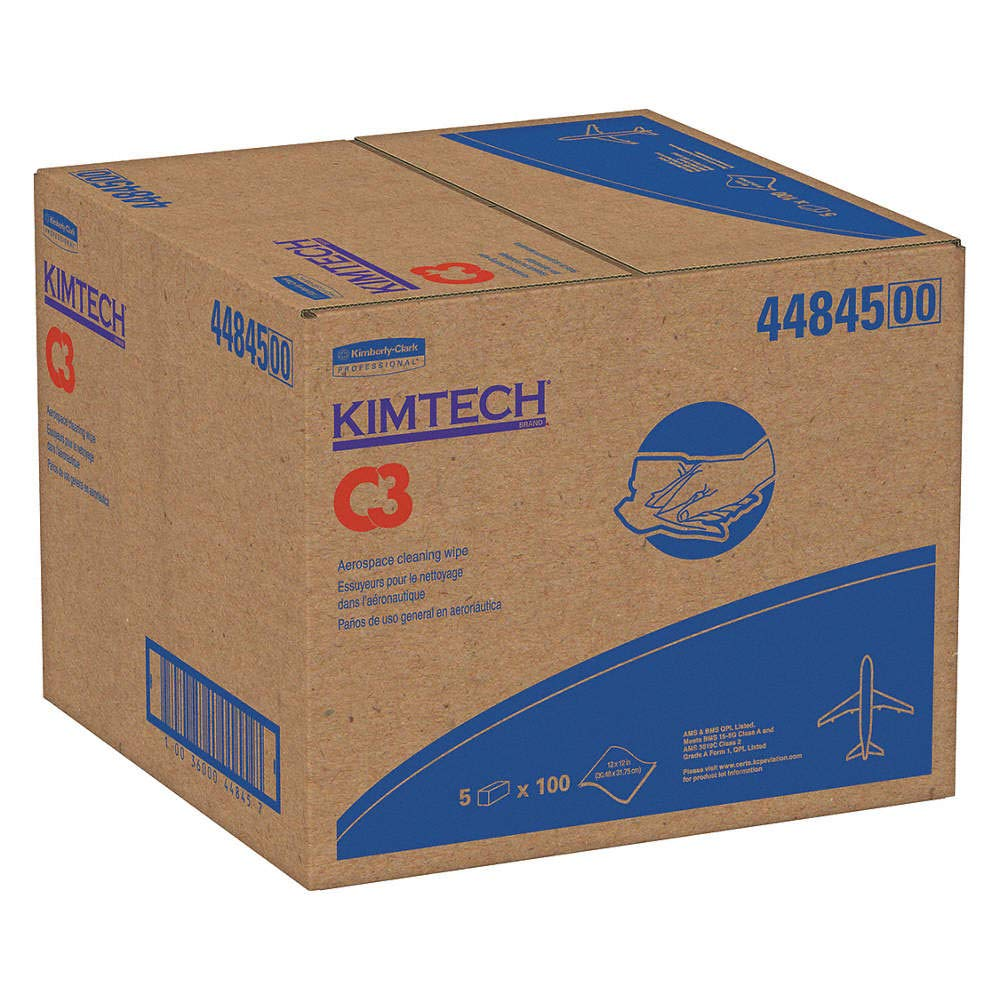 Kimberly-Clark 44845 KIMTECH C3 Sale price Aviation 12 Cleaning Wipe Max 84% OFF Flat