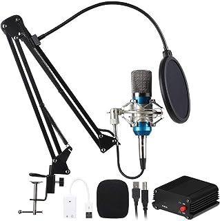 FMOGE Equipo del Micrófono De Condensador Nw-800, Equipo Profesional De La Alimentación por USB del Micrófono del Ancla De...