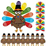 """Each turkey has been printed with """"I'm Thankful"""" on its body with colorful feathers, you can write down the words of gratitude you want to express on each piece of colorful paper feather, help to express your love The turkey craft kits are coming in ..."""