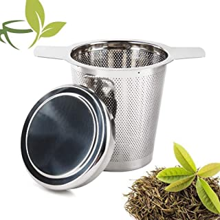 Tea infuser for Mugs Mesh Fits Standard Large Cup Teapot Stainless Steel Filter for Brewing Loose Tea Long Hand Tea Strainer