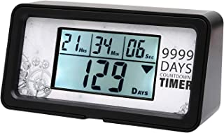 Digital 9999 Day Countdown Clock Timer Days (Black)