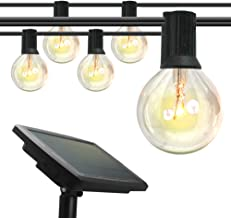 ERGO LIFE Outdoor Solar LED String Lights, 48FT, IP 65 Weatherproof with 15+3 LED Bulbs & 4 Light Modes, Outdoor Hanging L...