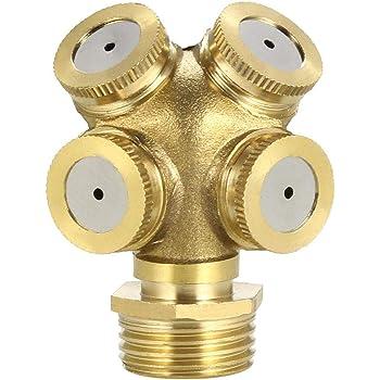 Adjustable Refraction Sprinkler 1//2BSPF Brass 4 Holes Misting Nozzle Irrigation