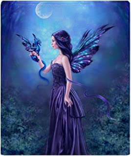CafePress Iridescent Fairy Dragon Art Soft Fleece Throw Blanket, 50