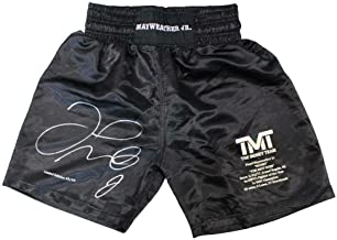 Floyd Mayweather Jr Autographed/Signed TMT Black Boxing Trunks LE/50 BAS 24971 - Beckett Authentication