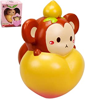 VLAMPO 6.5inch Soft Slow Rising Monkey Squishies Jumbo Giant Animal Squishy Toys Scented Squishy Collection Cute Squeeze Toy Adult Stress Relief Toys Fun to Play Squishies for Kids Girls Boys