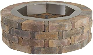 Pavestone RumbleStone 46 in. x 14 in. Round Concrete Fire Pit Kit No. 2 in Sierra Blend with Round Steel Insert