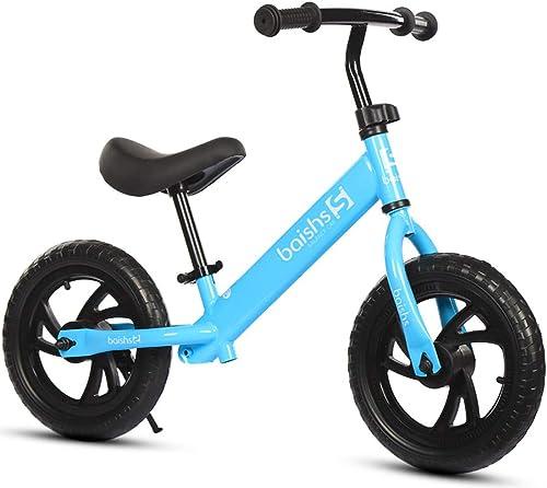 Tu satisfacción es nuestro objetivo CCDYLQ Bicicleta de Equilibrio Ajustable con Marco Marco Marco bajo para Niño de 1.5 a 5 años de Edad, Bicicleta de Entrenamiento con neumático Libre de Aire para el Niño, Correr Caminar Entrenamiento,azul  oferta especial