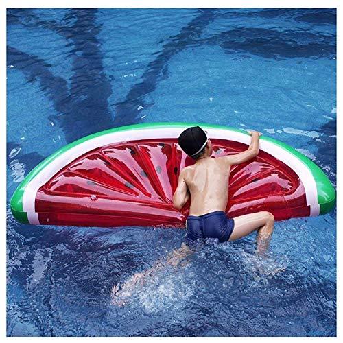 Fila Flotante Inflable, Cama Flotante Inflable en la Piscina de Agua Montaje en sandía Fila Flotante Balsa Flotante Adecuada para la Playa Fiesta de Verano al Aire Libre (Piscina)