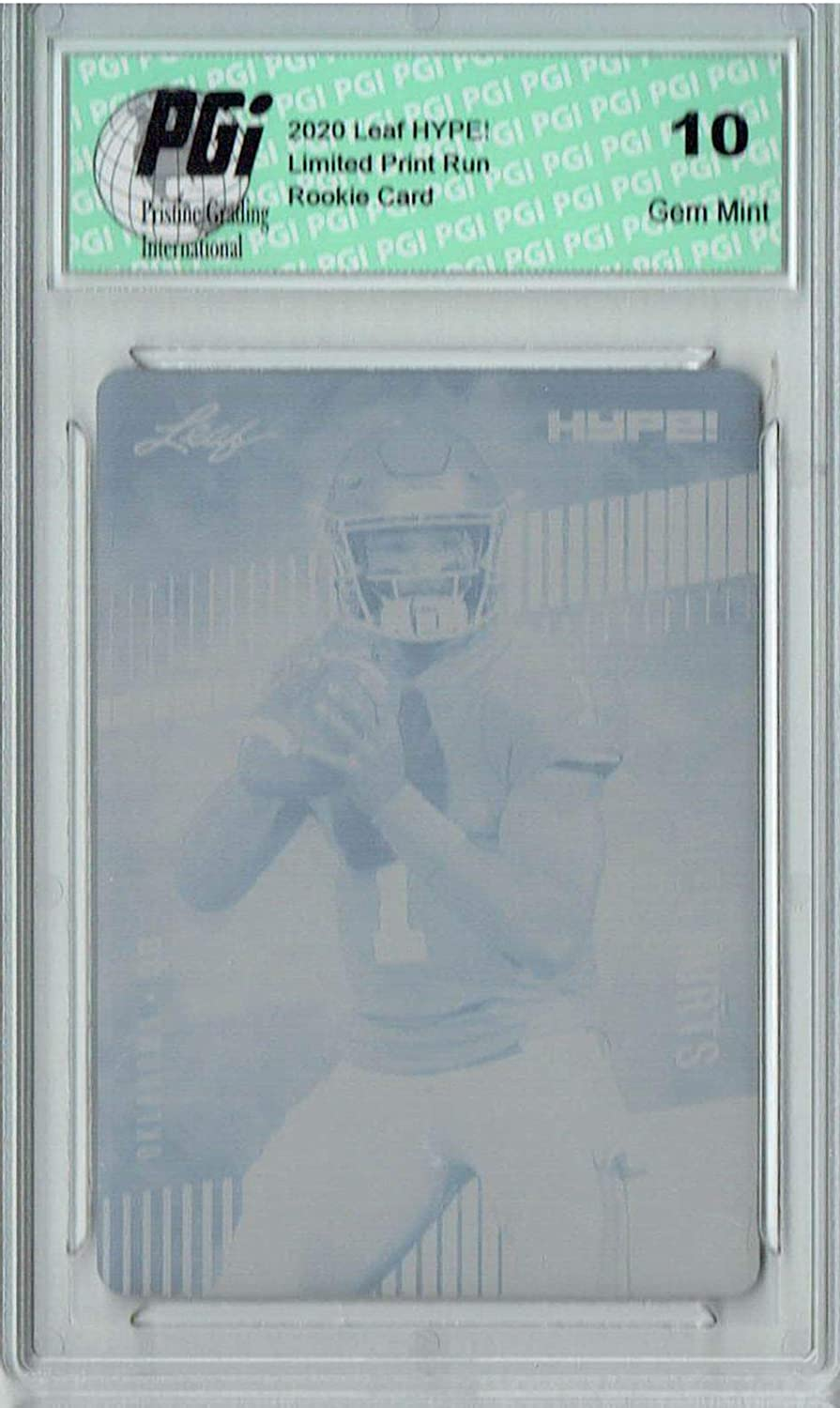 Quality inspection Jalen Hurts 2020 Leaf HYPE #28 C Ranking integrated 1st place Cyan 1 Plate Rookie Printing