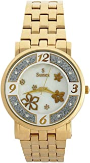 Sunex Women's White Dial Stainless Steel Band Watch, S6385GW