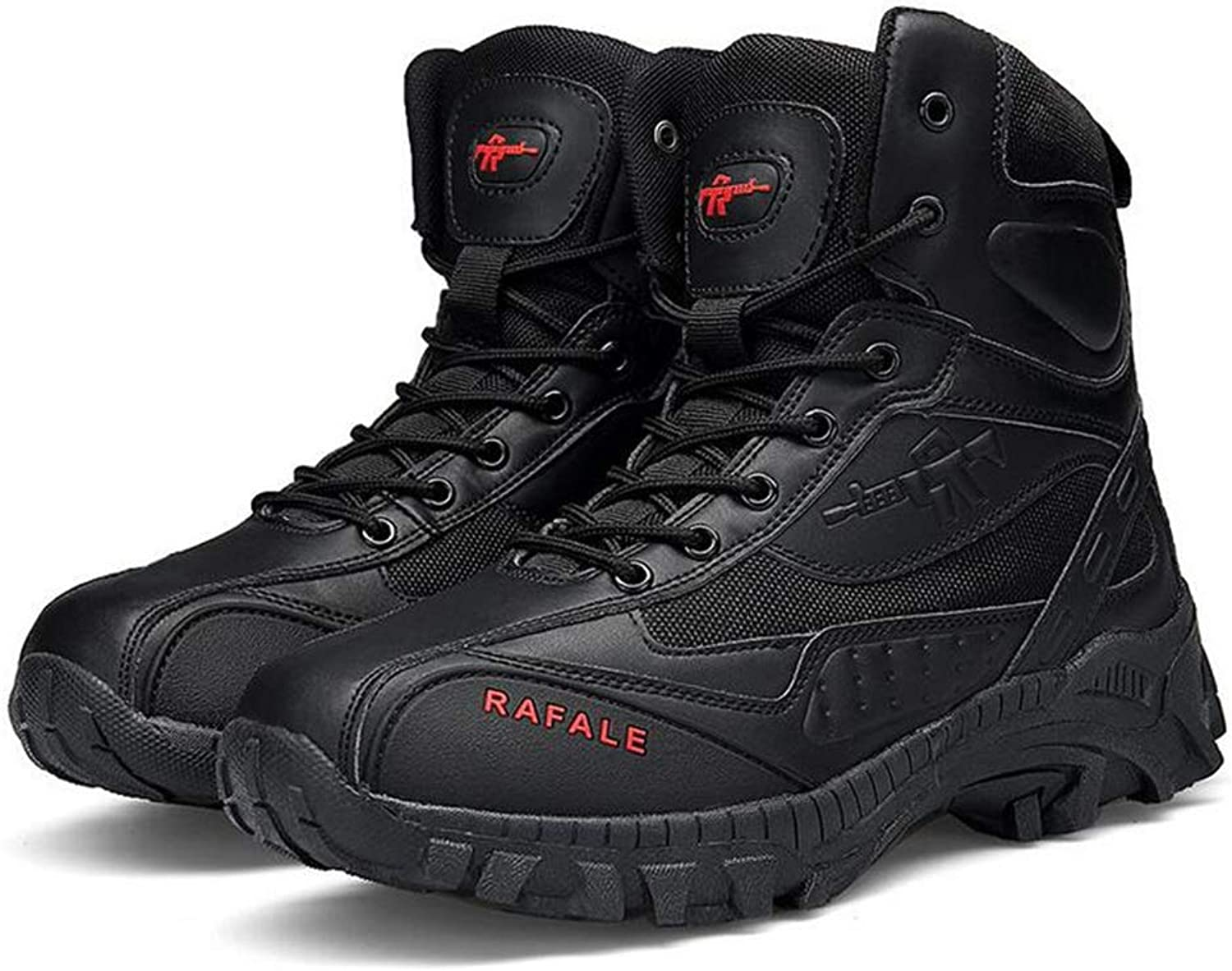 Y-H Men's shoes, Fall winter Casual Sneakers, top Tooling Boots,Military Boots,Formal shoes,Outdoor Hiking shoes (color   Black, Size   46)