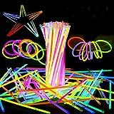 ASANMU Barras Luminosas, Pulseras Fluorescentes Tubos Luminosos Pulseras Luminosas con Variedad de Conectores Pulseras Luminosas para Carnaval Festividad Fiestas Eventos Infantiles, Bodas, cumpleaños