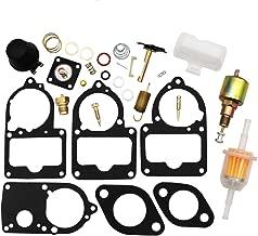 KIPA Carburetor Rebuild kit For VW SOLEX Brosol Bocar EMPI 28 30 34 PICT-3 Stock Carburetor Repair, With Float & 12V Cut off Valve Solenoid, Durable Top Quality
