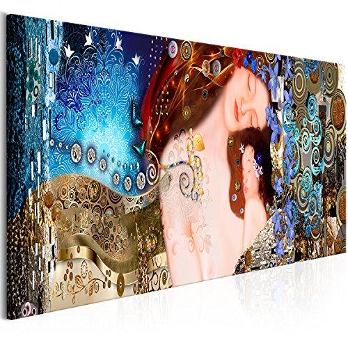 murando Cuadro en Lienzo Gustav Klimt 150x50 cm - 1 Parte Impresión en Material Tejido no Tejido Impresión Artística Imagen Gráfica Decoracion de Pared – Abstracción l-A-0015-b-a