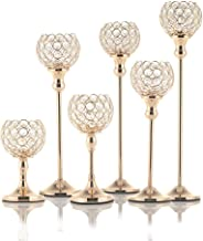 Candle Holders Metal Glass Candle Holder Crystal Candle Holders (Color : 35cm Tall)