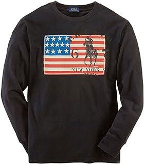 [ポロ ラルフローレン キッズ] POLO RALPH LAUREN CHILDREN 正規品 子供服 ボーイズ 長袖Tシャツ Flag Cotton Tee #37717066 並行輸入品 (コード:4077946313)