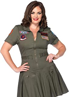 Women's Disney Top Gun Flight Dress Plus Size Costume