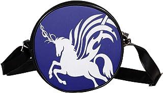 Coosun Einhorn-Silhouette, runde Umhängetasche, Schultertasche, Handtasche, Handtasche, Umhängetasche, für Kinder und Damen