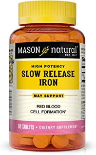 Mason Vitamins Slow Release Iron, 60 Tablets (Pack of 3)