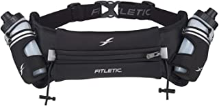 Fitletic Hydra 16 Hydration Belt | Patented No Bounce Technology for Marathon, Triathlon, Ironman, Trail, 5K, 10K | Running Belt | Range of Sizes & Colors | HD08 V2