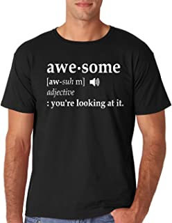 Awesome - Your Looking at It - Funny Definition Sarcasm Humor Men's T-Shirt