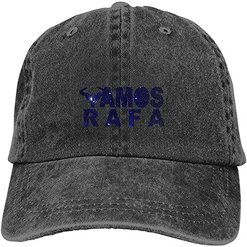 Yaxinduobao Unisex Vamos Rafa Sombrero de Vaquero Retro Gorra de béisbol Deportiva Sombrero de algodón clásico Ajustable para Adultos para Hombres Mujeres Negro